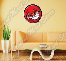 """Angry Red Ball Evil Devil  Wall Sticker Room Interior Decor 22""""X22"""""""