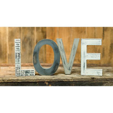 "primitive country decor 8"" Wood Letters ""LOVE"" w sayings & distressed paint"