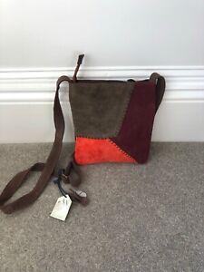 NEW A&A Handmand Company Suede Crossbody Bag