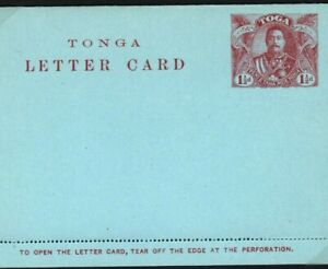 TONGA Stationery LETTER-CARD Unused HG.12 1912{samwells-covers}W462c