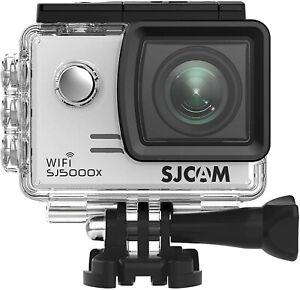 SJCAM  SJ5000X Elite  Plata 4K WiFi 12MP con Carcasa  Acuatica y Accesorios