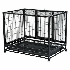 Pet Cage Metal Crate Portable Dog House Kennel Pen Shelter Puppy Potty Training