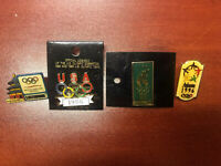 Vintage Lot of 4 OlympicGame Pins Badges from Atlanta'96 5 rings