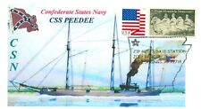 CSS PEEDEE Confederate Gunboat Wilmington Built Color Naval Cachet Pictorial PM