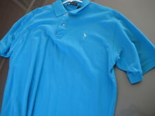 MENS Eastbay POLO SHIRT light Blue Solid Short Sleeve Sz Large L