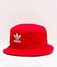 Adidas Originals Cotton Washed Scarlet Red Summer Beach Skater Bucket Hat