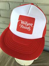 VTG Wilson Foods Meat Ham Angus Beef Mesh Snapback Trucker Baseball Cap Hat