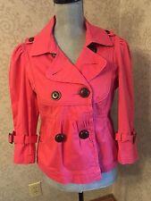 Macy's American Rag Cie Pink Coral Fashion Spring Canvas Jacket Coat Medium