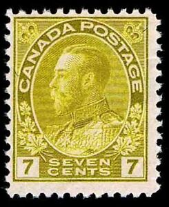 CANADA #113 .07c ADMIRAL OF THE NAVY ISSUE OF 1912 - OGXLH - F/VF - $45 (E#9665)