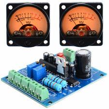 2pcs Analog VU Meter Panel Kit Backlit Decibel/Level Tester with VU Driver Board