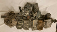LIGHTWEIGHT MOLLE II ACU FLC ADJUSTABLE FIGHTING LOAD CARRIER W/ POUCHES JJ 953