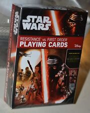Star Wars The Force Awakens Resistance vs First Order Playing Cards  NEW