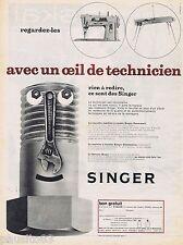 PUBLICITE ADVERTISING 115  1961  SINGER   machine à coudre & à tricoter TECHNICI