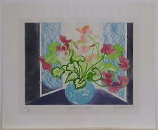 "Marianne Rizzolo, ""Devante la Fenetre,"" Hand-Colored Etching"