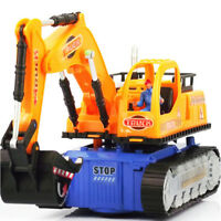 Toys for Boys LED Electric Construction Vehicle Excavator Truck Toy Car Gift