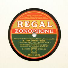 """COMMODORE GRAND ORCHESTRA """"In Town Tonight"""" (EE+) REGAL ZONOPHONE MR-1260 [78]"""