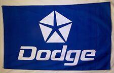 Dodge Blue & White Pentastar Premium Flag 3' x 5' Automotive Banner (USA Seller)