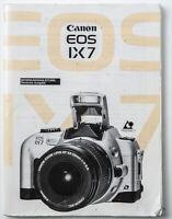 Bedienungsanleitung Canon EOS IX7 E O S  I X 7 EOS I X 7 Anleitung