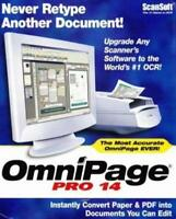 OmniPage 14 Pro PC CD scanner convert editing PDF document files OCR program!