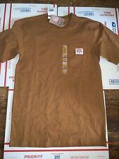 NWT Men's Carhartt HERITAGE K87 WORKWEAR POCKET T-SHIRT Brown Sz S-4XL USA Made