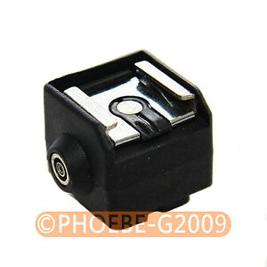 SC-2 Flash Hot Shoe PC Sync Adapter for Canon Nikon