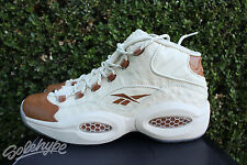 REEBOK QUESTION MID SZ 10 SNS SNEAKERSNSTUFF LUX IVERSON OSTRICH BROWN BD2532