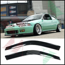 Side Window Visors Rain Guards EG SI VTEC Mugen Type R For 92-95 Honda Civic 3Dr