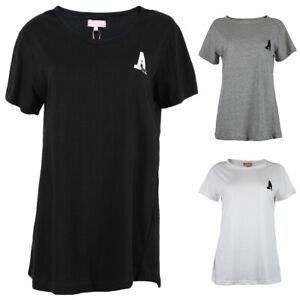 Ladies Miss Ego T-Shirts Black White Grey 100% Cotton All Season Wear Brand New