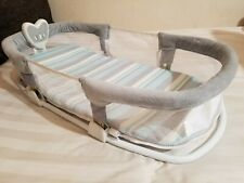 Swaddle Me by Your Side Sleeper Deluxe Blue Gray white