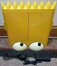 "SIMPSONS 15"" FLAT LCD TV IN YELLOW COMES WITH POWER SUPPLY - NO REMOTE INCLUDED"