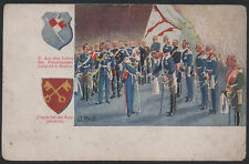 1900s GERMANY BAYERN PRINCE LUITPOLD NEW YEAR GREETING LITHO PPC
