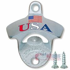 USA Flag Starr X Beer Bottle Opener Stationary Wall Mounted Cast Iron W/ Screws