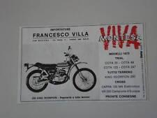 advertising Pubblicità 1973 MONTESA KING SCORPION 250