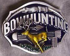 Pewter Belt Buckle Sportsman Bow Hunting NEW