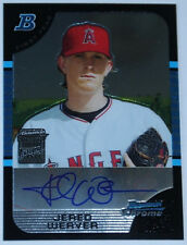 Jered Weaver Angels 2005 Bowman Chrome #167 Auto Signed Rookie Card rC NM-MT QTY