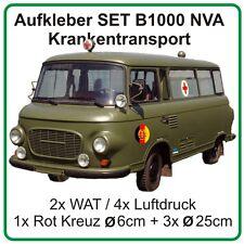 Aufkleber Set für Barkas B1000 Krankentransport Sankra ohne Emblem NVA DDR