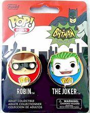 Funko POP Pins Collectible Batman Series Robin & The Joker 1.25in. 2 Pc. Set
