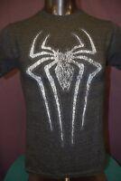 Mens Marvel Spiderman Triblend Shirt New S, M, L