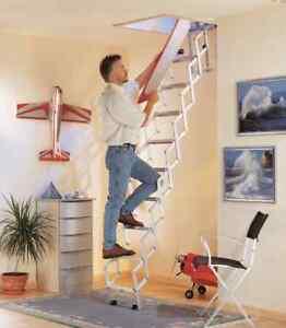 Loft Ladder Concentina Style Alufix, 3 Models Available *BARGAIN*