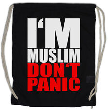 I? M musulman Don? t Panic II Turnbeutel Islam Musulman Religion Arabic Arabian