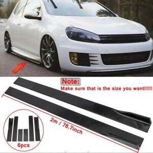 Carbon Fiber Side Skirt Rocker Panel Extension For VW Golf MK6 MK7 MK7.5 GTI R
