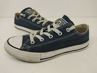 Converse Chuck Taylor All Star Low Youth Navy Blue/White Sneaker Size 1M