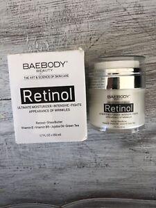 Baebody Retinol Ultimate Moisturizer Vitamins B5 & E/Jojoba Oil/Green Tea 1.7oz