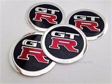 GTR GT R Aufkleber 60mm Satz 4 Felgen Sticker Nabenkappen Felgendeckel Emblem