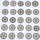 25 Flat Silver Watch Wheels 4mm Tiny Art Part Gear Steampunk Watchmakers Lot NOS