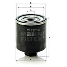 Mann W712/52 Oil Filter Spin On 92mm Height 76mm Outer Diameter Service