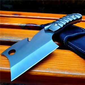 Wharncliffe Knife Fixed Blade Hunting Tactical Survival Combat Camping Outdoor S