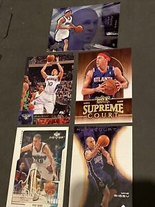 5 Mike Bibby Cards Upper Deck Fleer Hot Prospects Basketball Trading NBA Hawks