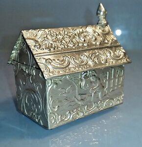 Rare Victorian 1893 Dutch hanau miniature house treasure chest full hallmarks