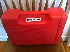 vintage Mobil 1 storage case Oil Large Red Gas Gasoline Company Tools Tool Box